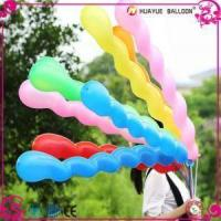 Assorted Color Screw Spiral Worm 8 Sections Latex Balloons Manufactures