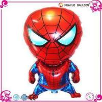 Quality Funny Cartoon Shaped Minion Spiderman Helium Foil Balloons for sale