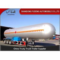 10 Wheelers LPG LNG Fuel Transfer Trailer 3*13 Ton FUWA Axles Carbon Steel Tank Manufactures