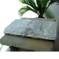 Buy cheap ocean green slate natural stone wall caps from wholesalers