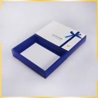 China a4 big size luxury folding gift boxes with lid decorate blue ribbon for wholesale on sale