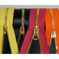 China gold brass metal zip parts for leather jackets,hoody,jeans,pants on sale