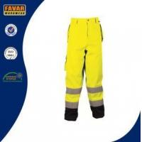 China Heavy Duty Breathable Fluorescent Waterproof Safety Work Trouser with Knee Pads on sale