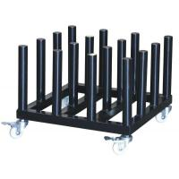 Illuminated Sign Material Product  Rolling Floor Rack for Vinyl Roll Storage Manufactures