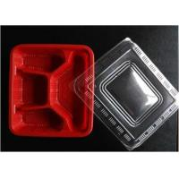 Buy cheap Red Disposable Plastic Trays Polypropylene Food Packaging For Storage from wholesalers