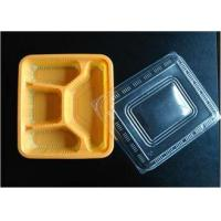 Buy cheap Orange Small Disposable Food Containers With Lids , Food Grade Rectangular Shaped from wholesalers