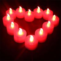 Buy cheap Battery Operated Red Electric LED Tealight Candles for Party Birthdays from wholesalers