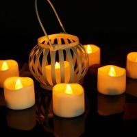 Buy cheap Flameless Yellow Flickering LED Tealight Candle Timer Function Candles ON 6H OFF 18H from wholesalers