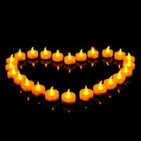 Buy cheap Flameless Battery Operated Yellow Flickering Electric LED Tealight Candle for Church from wholesalers