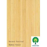 Flexible Natural Vertical bamboo veneer for Furniture and Floor Manufactures