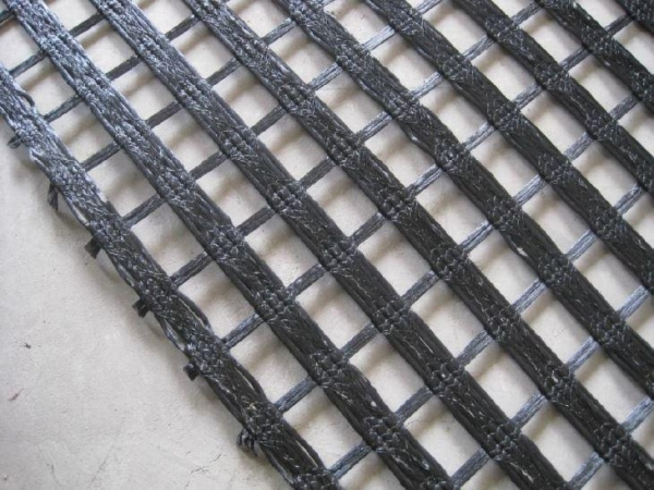 Quality PET Weft and Warp Knitting Woven Geotextile Geogrid with Soil Stabilization for sale