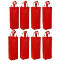 Custom Non-Woven Single Bottle Wine Tote Bag Manufactures