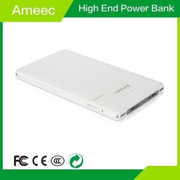 Quality Wholesale AMEEC hot selling 8000mAh Patent Li-Polymer Battery Power Bank AMJ-P004 for sale