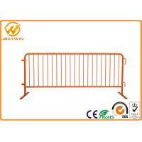 Buy cheap Hot Dip Galvanized metal Crowd Control Barrier , temporary barricade to party and event rental from wholesalers
