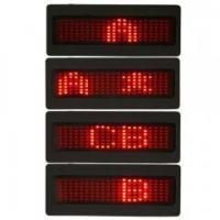 China Red Programmable LED Badge Moving Scrolling Message Tag Sign Display on sale