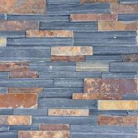 Buy cheap Black And Rusty Slate Rough Cultural Stone from wholesalers