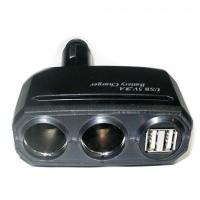 Buy cheap 2 port USB charger(3A)+2-socket Socket charger from wholesalers