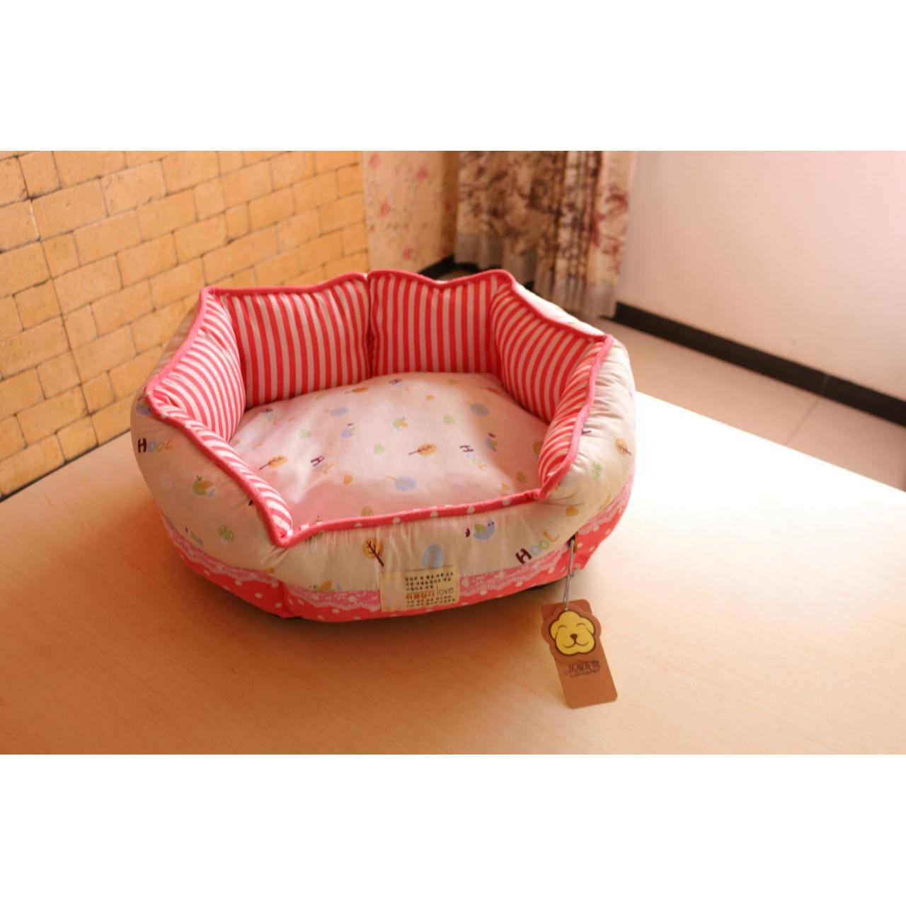 Round dog bed flowers print Manufactures