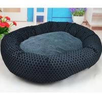 Round Dog Beds Soft Fleece PP Cotton Padded Puppy Bed Manufactures
