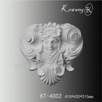 PU wall onlays KT-4002 Woman smiling face antique wall decor for sale Manufactures