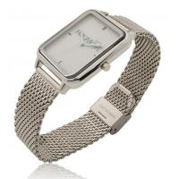 Custom Imprint Bags New Big Dial Rectangle Watch with Stainless Steel Mesh Bracelet (PT4512-Mesh) Manufactures