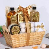 Bath and Body Products with Sandalwood Scent in Bamboo Basket(Item No.:RM13SL345) Manufactures
