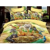 Animal World Yellow Bedding 3D Duvet Cover Set Manufactures