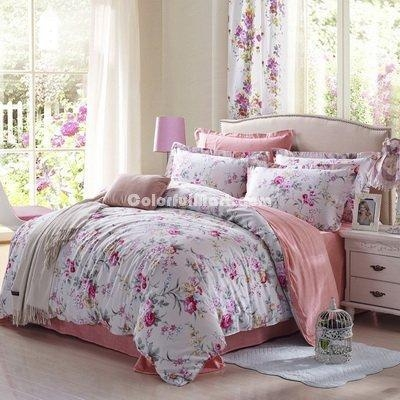 China Beautiful Scenery Pink Modern Bedding 2014 Duvet Cover Set