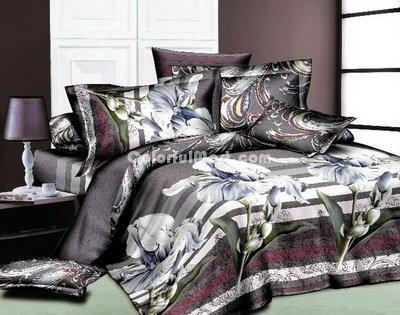 China Butterfly Orchid Bedding 3D Duvet Cover Set