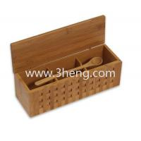 China Elegant bamboo box with 10-1/4-Inch Triple Scoop Box on sale