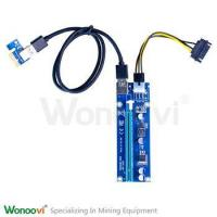 China Best seller USB 3.0 Riser Card pcie x16 PCIe X1 60CM cable 6PIN PCIE to pci Motherboard Bitcoin on sale
