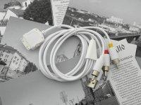 RCA Composite AV TV Cable USB For iPod iPhone 3G Video
