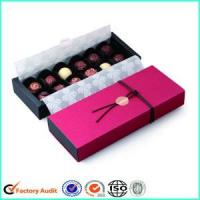 Chocolate Gift Packing Box With Paper Divider Manufactures