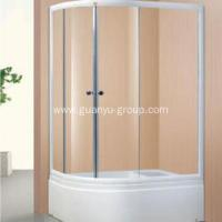Oval Simple Champagne Aluminium Shower Room Manufactures