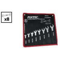 China Fixtec Ratchet Double Open End Spanner Set With Bag Package on sale