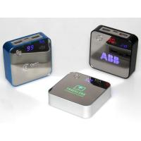 7800 mAh Dual USB Port Led Light Up Logo Power Banks with LCD Display Manufactures