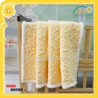 China TEXTILES 100% Polyester Mink Embossed Sherpa Blanket on sale