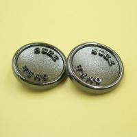 Buy cheap Custom Logo Metal Gunmetal Shank Novelty Sewing Buttons for Coats for Jacket Online from wholesalers