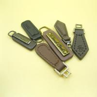 China Custom Logo Plating Roll Brass Leather Zipper Pulls with Metal on sale