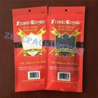 Buy cheap laminated material Slider Ziplock Plastic Cigar Packaging Bag tobacco pouch from wholesalers