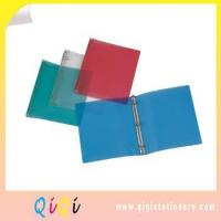 customized a4 or letter size school usage friendly qiqi plastic poly/pp ring binder Manufactures
