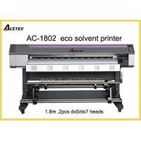 ECO Solvent Printer AC-1802 6 Feet Dual DX7 Print Head Small Format ECO Solvent Printer Manufactures