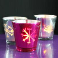 China Mosaic Glass Candle Holder with LED Tea Lights Candles for Votive on sale