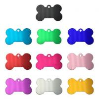 China Blank Aluminum Bone Shaped Pet ID Tag on sale