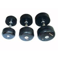 Fitness Round Rubber Dumbbells Set Manufactures