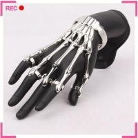 Buy cheap Finger chain ring bracelet for Halloween, Skeleton Hand bracelet with ring attached from wholesalers