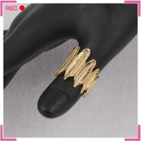 Buy cheap Ladies finger imitation gold ring design for Thumb, leaf shaped fancy imitation gold ring designs from wholesalers