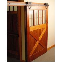 Black Country Style Barn Wood Steel Double Sliding Door Hardware Closet Set Manufactures