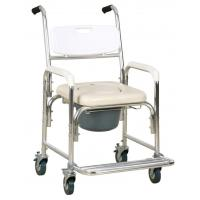 China Lightweight Aluminum Commode Wheel Chair /Shower Chair With Wheels on sale