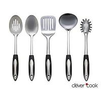 Clever Cook Stainless Steel Set of Kitchen Utensils by Clever Cook Manufactures